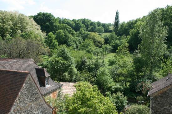 vue sur la campagne depuis la terrasse